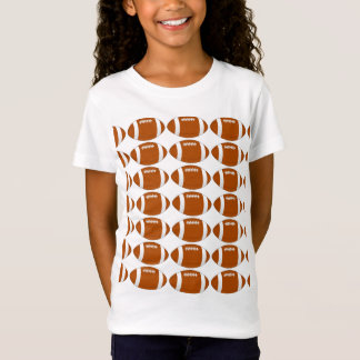 "GIrls' Medium Youth ""I Love My Football"" T-Shirt"