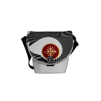 Girls messenger bags with African symbol-unity