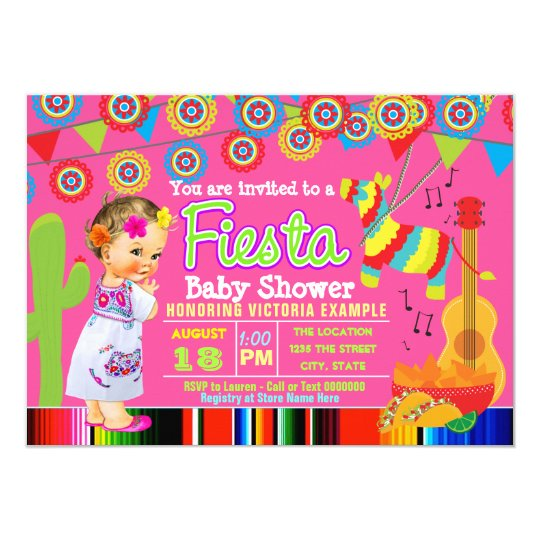 Ideas Baby Shower Mexicano.Girls Mexican Fiesta Baby Shower Invitations