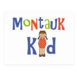 Girls Montauk Kid Post Card