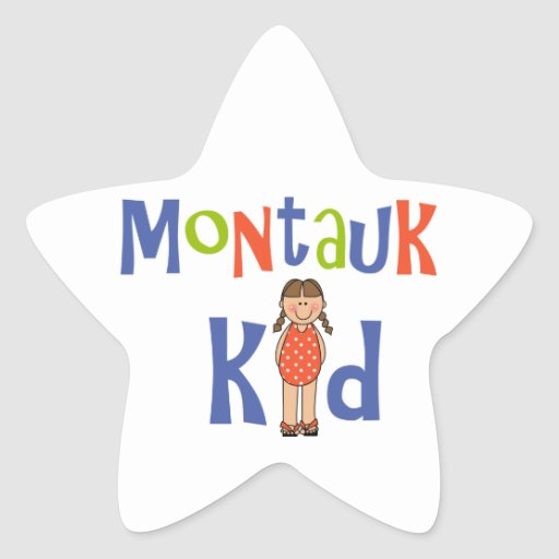 Girls Montauk Kid Star Stickers