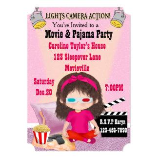 Girls Movie and Pajama Party Invites