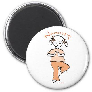 Girls Namaste Yoga Gear Fridge Magnets