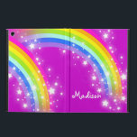 "Girls name rainbow mauve ipad air powis case<br><div class=""desc"">Perfect to protect your girls new ipad air. Add your name up to 6 letters to this mauve rainbow folio style ipad case. Currently reads Madison. This original rainbow graphic case is designed by Sarah Trett.</div>"