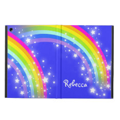 Girls Name Rainbow Pink Blue Ipad Air Powis Case at Zazzle