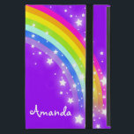 """Girls name rainbow purple ipad air powis case<br><div class=""""desc"""">Perfect to protect your girls new ipad air. Add your name up to 5 letters to this folio style ipad case. Currently reads Amanda. This original rainbow graphic case is designed by Sarah Trett.</div>"""