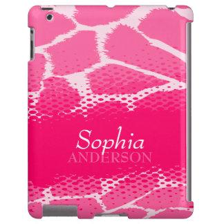 Girls named pink graphic animal print ipad case