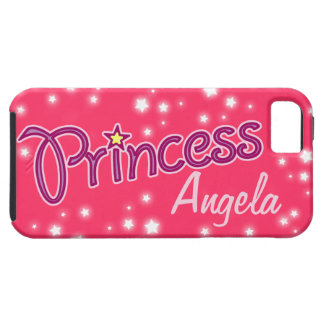 Girls named princess star graphic iphone case