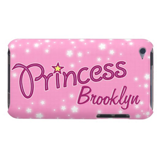 Girls named princess star pink purple ipod case iPod touch case