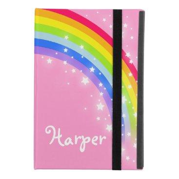 Girls named rainbow pink sky and stars iPad mini 4 case