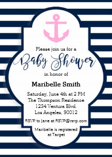 Nautical baby shower invitations announcements zazzle girls nautical baby shower invitation filmwisefo Images