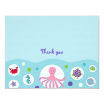 Girls Nautical Flat Thank You Note Cards