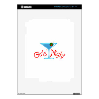 GIRLS NIGHT FULL FRONT SKINS FOR iPad 3