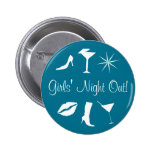 Girls' Night Out 2 Inch Round Button
