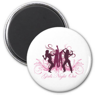 girls night out 2 inch round magnet