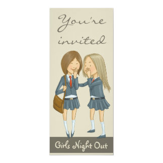 Girls night out 4x9.25 paper invitation card