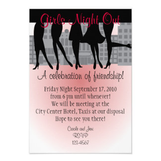 Girls Night Out Announcements