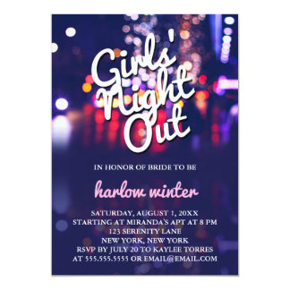 Girls' Night Out Bachelorette Party Card