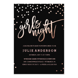 GIRLS NIGHT OUT // BACHELORETTE PARTY invitation