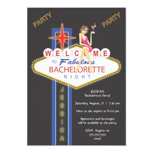 """Girls Night Out Bachelorette Party Invitation 5"""" X 7"""" Invitation Card"""