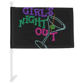 Girls Night Out Car Flag