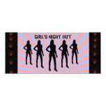 """Girl's Night Out Card 4"""" X 9.25"""" Invitation Card"""
