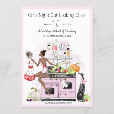 Girls Night Out Cooking Class Invitation