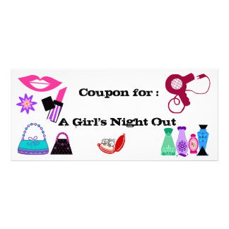 Girl's Night out coupon Rack Card