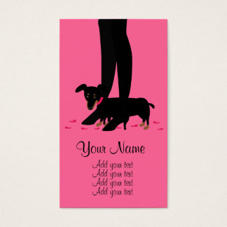 Girls' Night Out - Dachshund Business Card