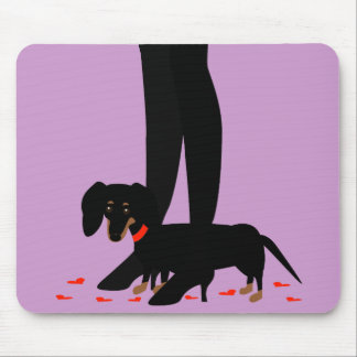 Girls' Night Out - Dachshund Red Collar Mouse Pad
