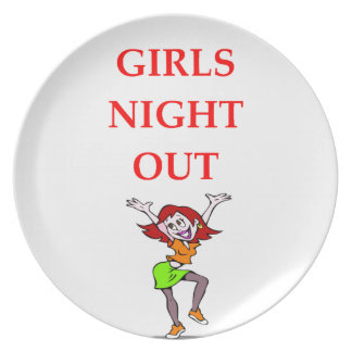 girls night out dinner plate