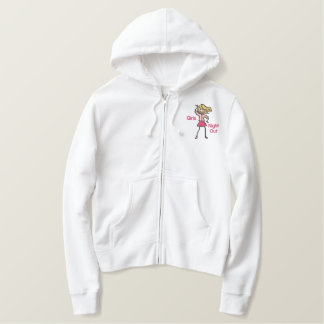 Girl's Night Out Embroidered Hoodie
