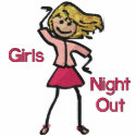 Girl's Night Out embroideredshirt