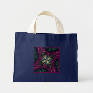 Girls Night Out Feather Boa Small Navy Blue Mini Tote Bag