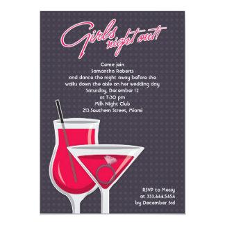 Girls Night Out Flat Invitation