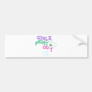 GIRLS NIGHT OUT GIFTS BUMPER STICKER