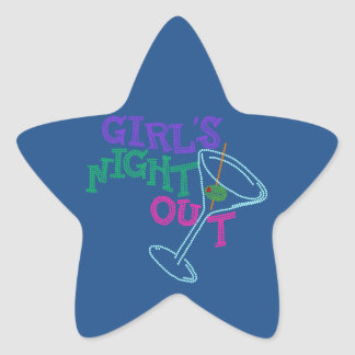 GIRLS NIGHT OUT GIFTS STAR STICKER