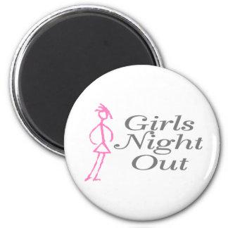 Girls Night Out Girl Fridge Magnets