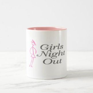 Girls Night Out (Girl) Two-Tone Coffee Mug