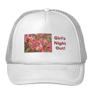 Girl's Night Out! hats White Pink Floral