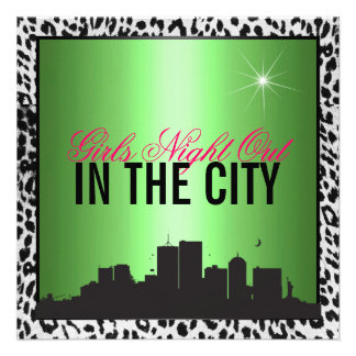 Girls night out in the city announcement
