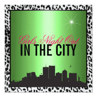 Girls night out in the city card