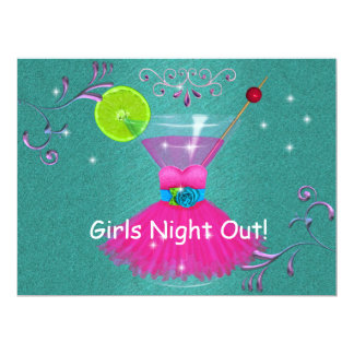 Girls Night OUT Invitations with Dress & Cosmo