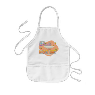girls night out, last night out bachelorette party kids' apron