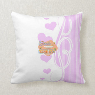 girls night out, last night out bachelorette party pillow