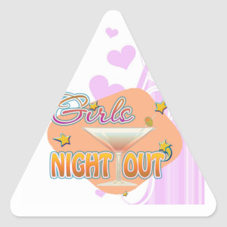 girls night out, last night out bachelorette party triangle sticker