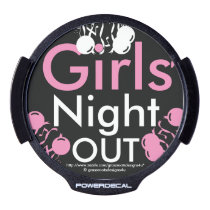 Girls' Night Out LED Window Decal