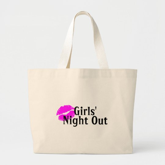 Girls Night Out Lips Large Tote Bag