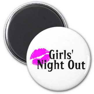 Girls Night Out Lips 2 Inch Round Magnet