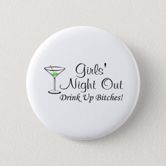 Girls Night Out Martini Button